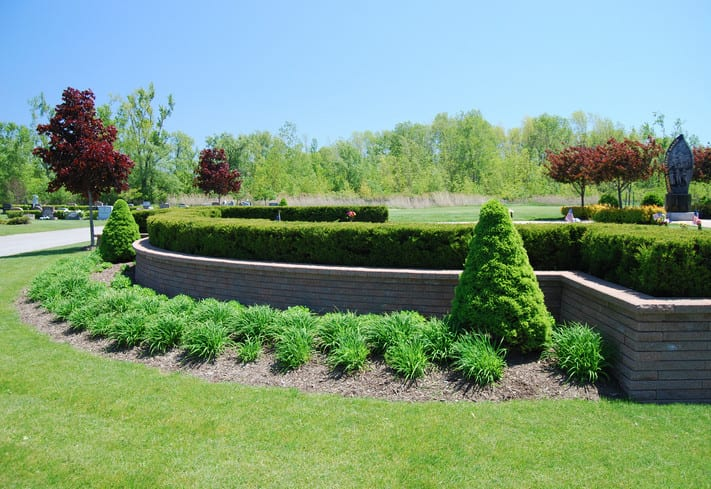 cemetery landscape lawn crypt gardens