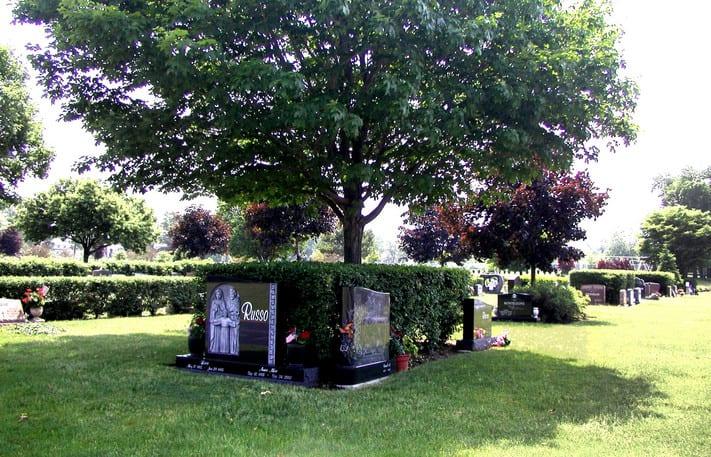 cemetery landscape design section planning